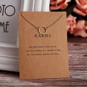 Gold Karma Circle Necklace
